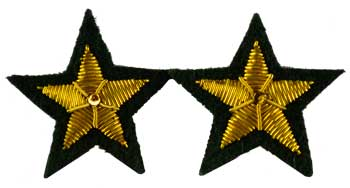 Star Sew-On Patch Green  (Set Of 2) 2""
