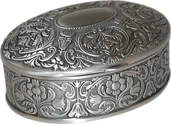 """2 1/2: X 3 1/2"""" Oval Pewter"""