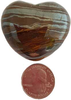 "1 3/4"" Tiger Eye Heart"