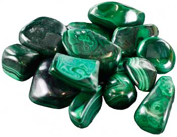 1 Lb Malachite Tumbled