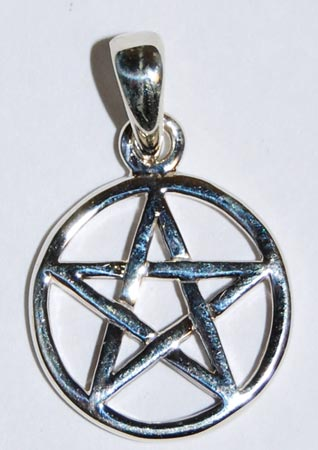 Creepy hollows witchcraft pagan new age wiccan occult silver pentagram aloadofball Images
