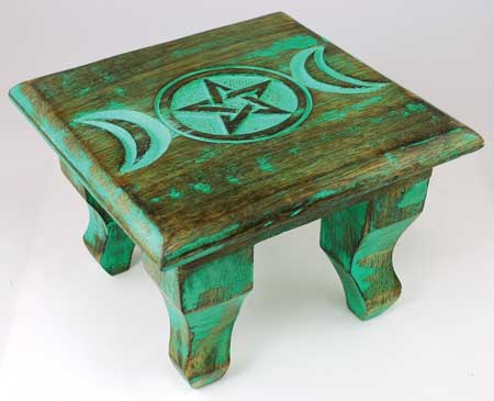 Antiqued Triple Moon Altar 6""