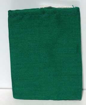 "Green Cotton Bag 3"" X 4"""