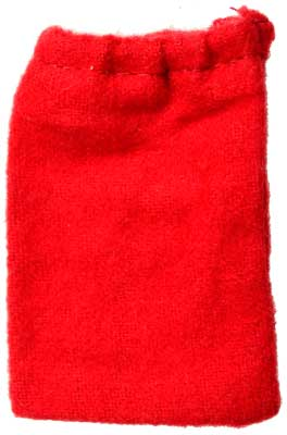 "Red Cotton Bag 1 1/2"" X 2 1/4"""