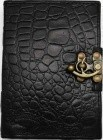 Black Python Leather W/ Latch