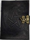 Black Pentagram Leather W/ Latch