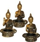 Buddha Tealight (Set Of 3)
