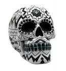Black/ White Aztec Skull Bank