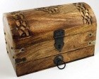 Celtic Cross Treasure Chest 10""