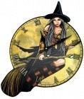 Witch Clock 17 1/2""