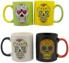 Set Of 4 Day Dead Mugs