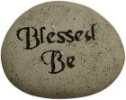 "Blessed Be Stone 2 3/4""X 3 1/2"""