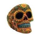 Orange Skull Ashtray