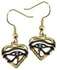 Eye Of Horus Heart Earring