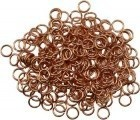 Jump Rings, Copper Plated 1oz