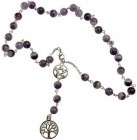 Amethyst Witch's Ladder Necklace