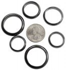 6mm Magnetic Hematite Rings 50/Bag