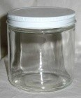 12oz Clear Glass Jar (C)