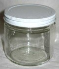 16oz Clear Glass Jar (C)