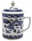 White/ Blue Dragon Mug