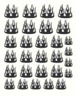 Flame Black Nail Decal