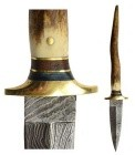 Bone Damascus Athame