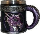 "4 1/4"" Purple Dragon Mug"