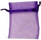"4"" X 5"" Purple Organza"