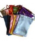 "12 Pk 4"" X 5"" Satin Pouches Mixed Colors"