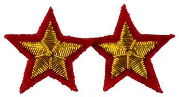 Star Sew-On Patch Red  (Set Of 2) 2""