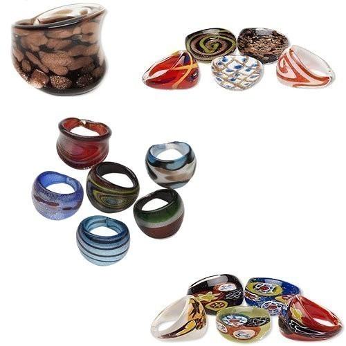 Artisan Glass Rings